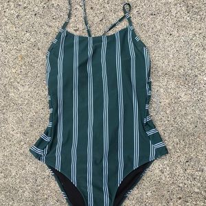 Cupshe Vertical Stripe Swimsuit
